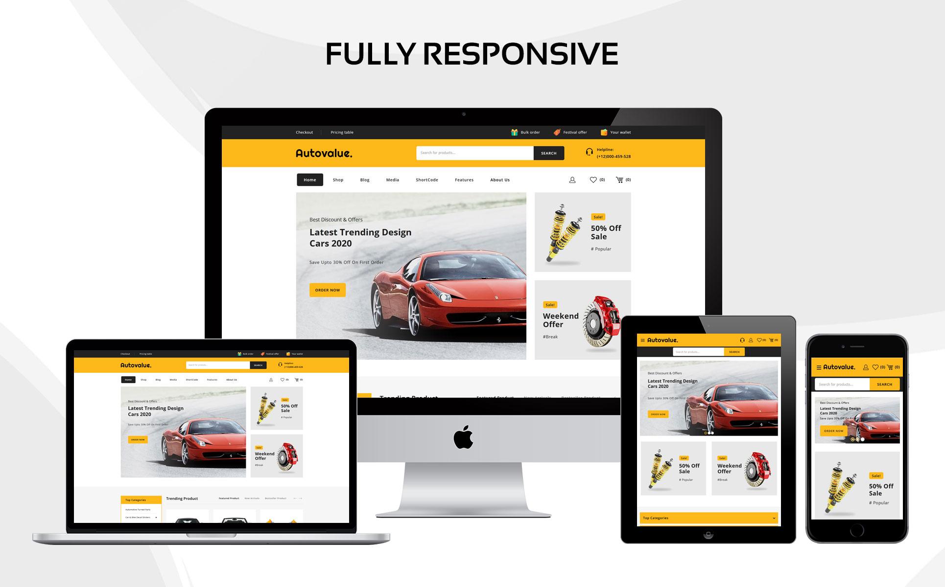 Auto value - The Automobile Store Responsive WooCommerce Theme