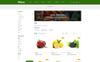 """""""Olives - Organic Store"""" thème OpenCart adaptatif Grande capture d'écran"""