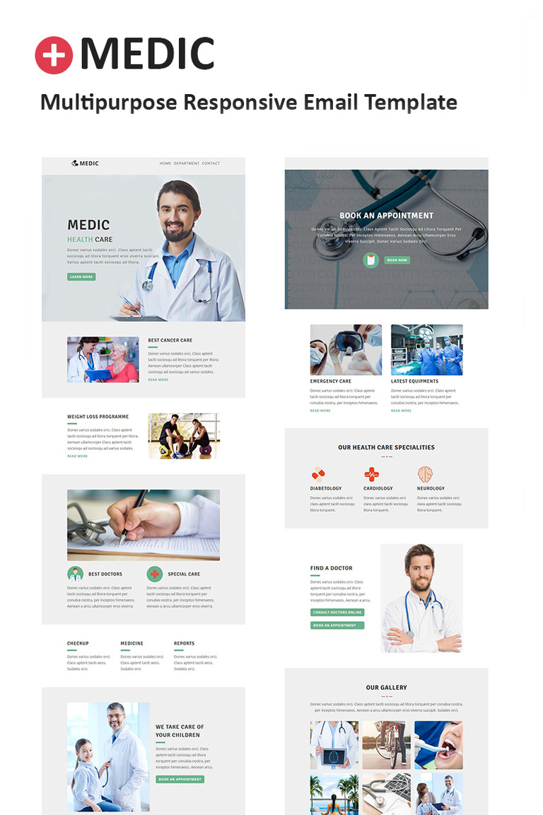 medic multipurpose responsive newsletter template 64539