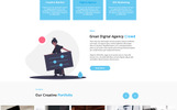"""CroWD - One Page Multi-Purpose Creative Agency"" modèle PSD adaptatif"