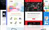 Plantilla de Boletín de Noticias para Sitio de Diseño Web Captura de Pantalla Grande
