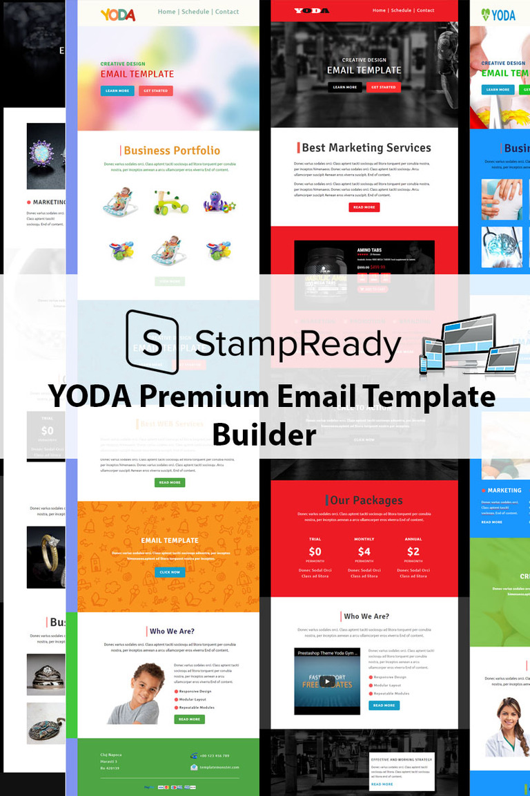 Yoda Email Creator For Stampready Newsletter Template 68504