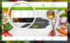 Tema de PrestaShop para Sitio de Restaurantes vegetarianos Captura de Pantalla Grande