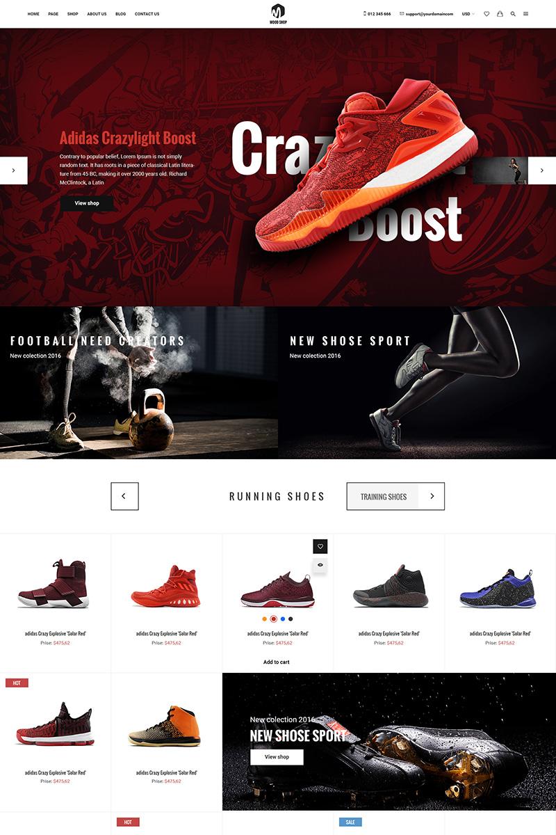 Moodshop - Modern eCommerce Footwear Online Store PSD Template