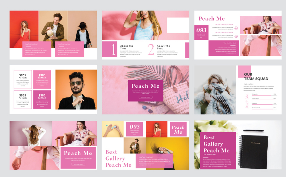 Peachme Presentation PowerPoint Template