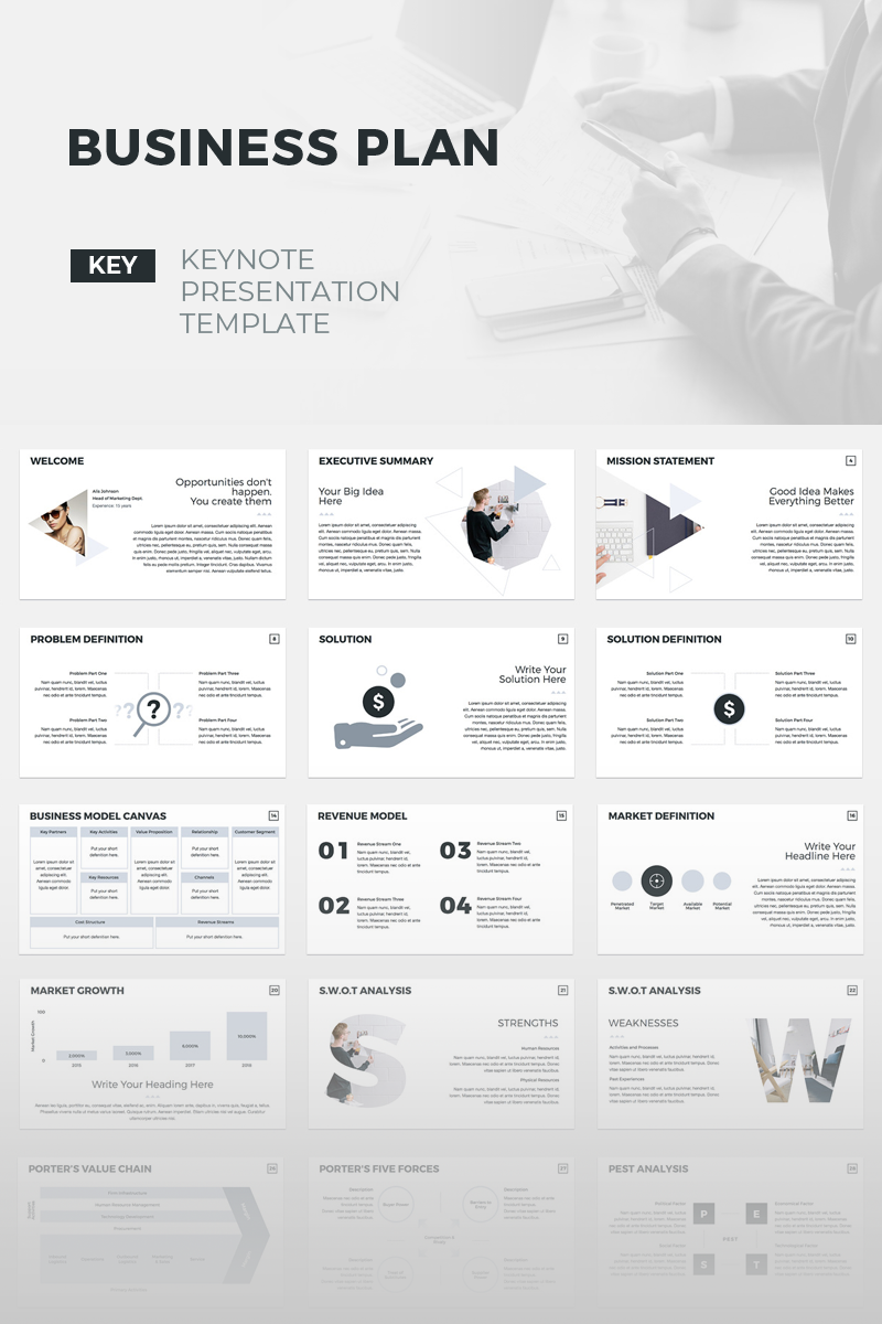 business plan creative keynote template #70496