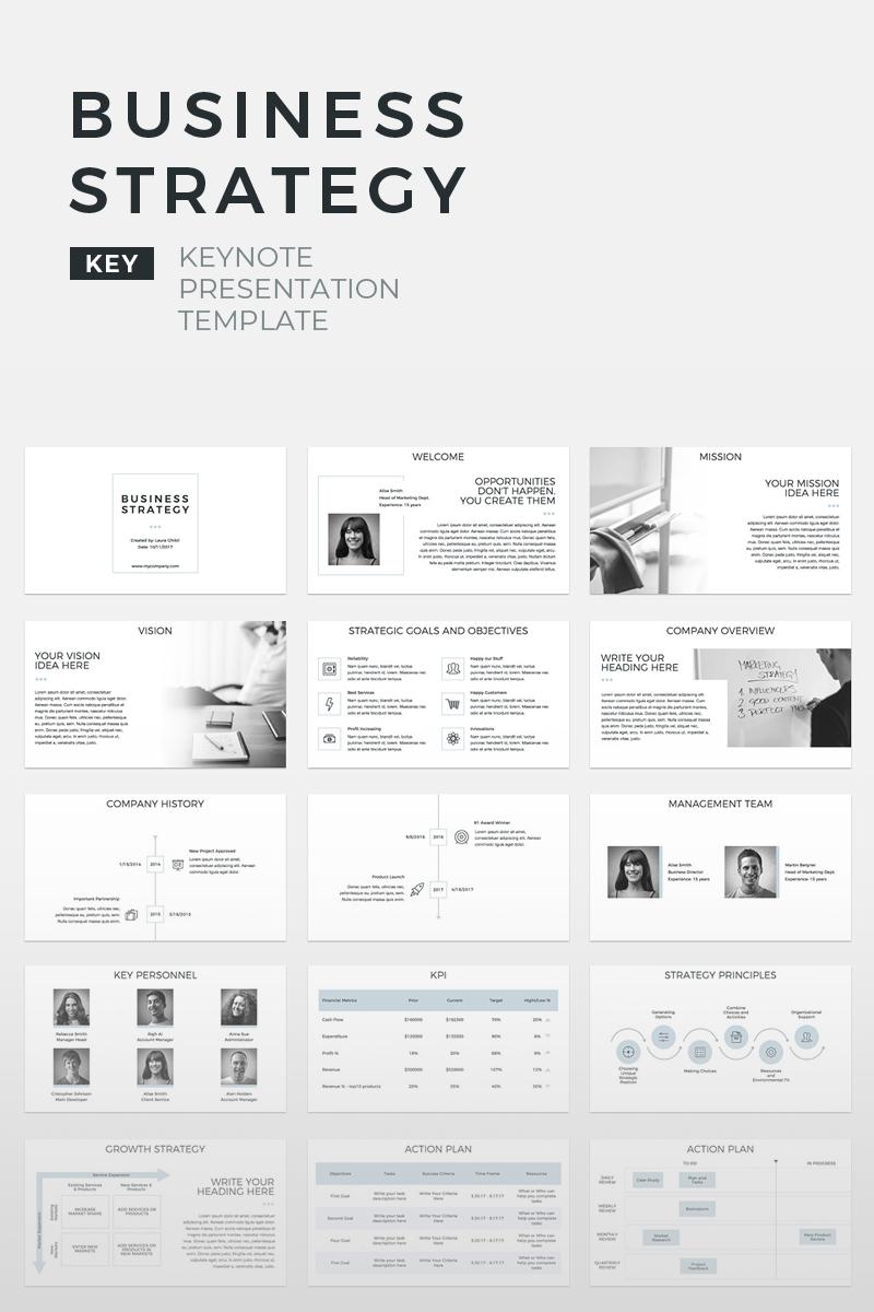 business strategy presentation keynote template 70572