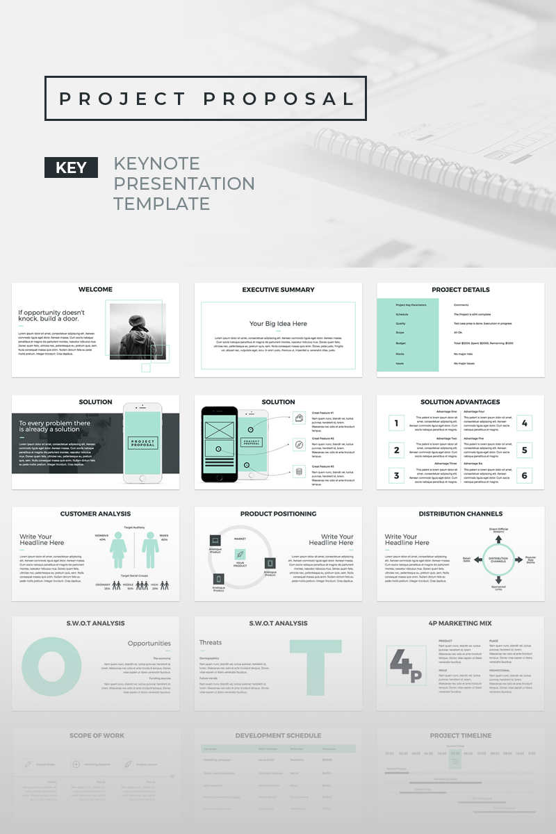 project proposal presentations keynote template 70570
