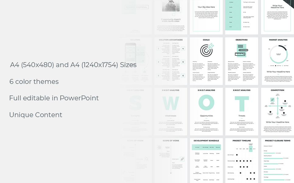a4 project proposal powerpoint template  78733