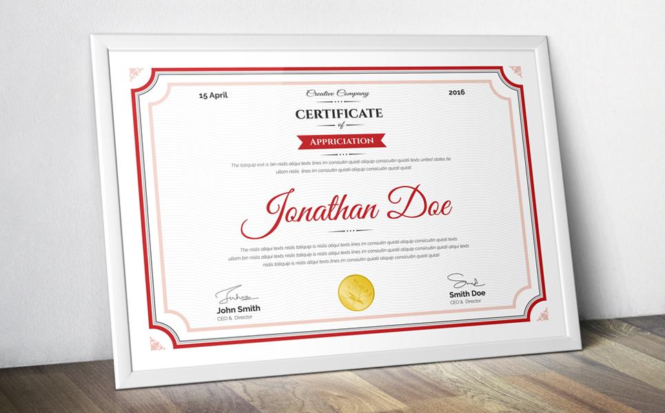 Jonathan Doe Clean Certificate Template 69558