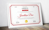 Jonathan Doe - Clean Certificate Template Big Screenshot