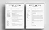 Robert Anthoni Clean Resume Template