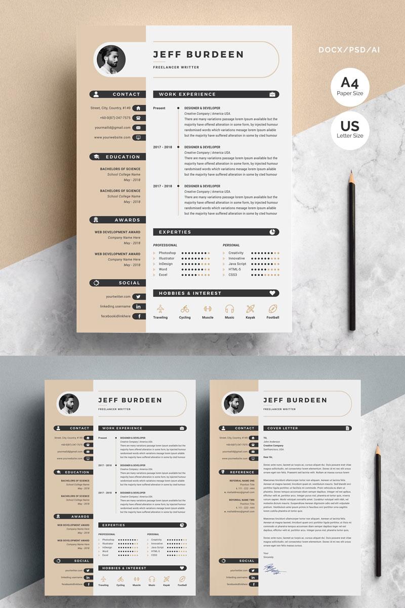 jeff burdeen modern resume template 71925