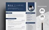 """""""Word Resume-Bill Clarke"""" modèle de CV"""
