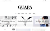 Guapa - Minimalistisches WordPress Theme für Blogs