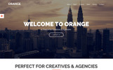 Responsywny motyw WordPress Orange - One Page Bootstrap WordPress Theme #73816