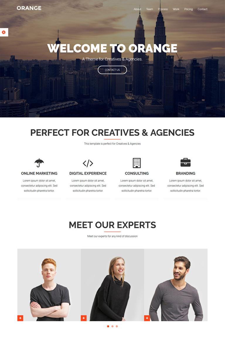 Orange - One Page Bootstrap WordPress Theme WordPress Theme