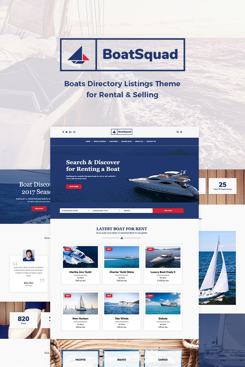 Адаптивный шаблон №76603 на тему спорт, природа и путешествия, яхтинг