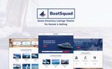 """BoatSquad - Boats Directory Listings"" Bootstrap WordPress thema"