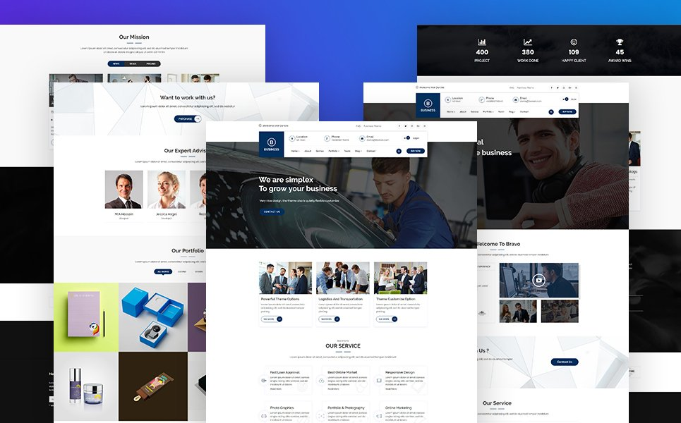 Bravvo - Corporate WordPress Theme Big Screenshot