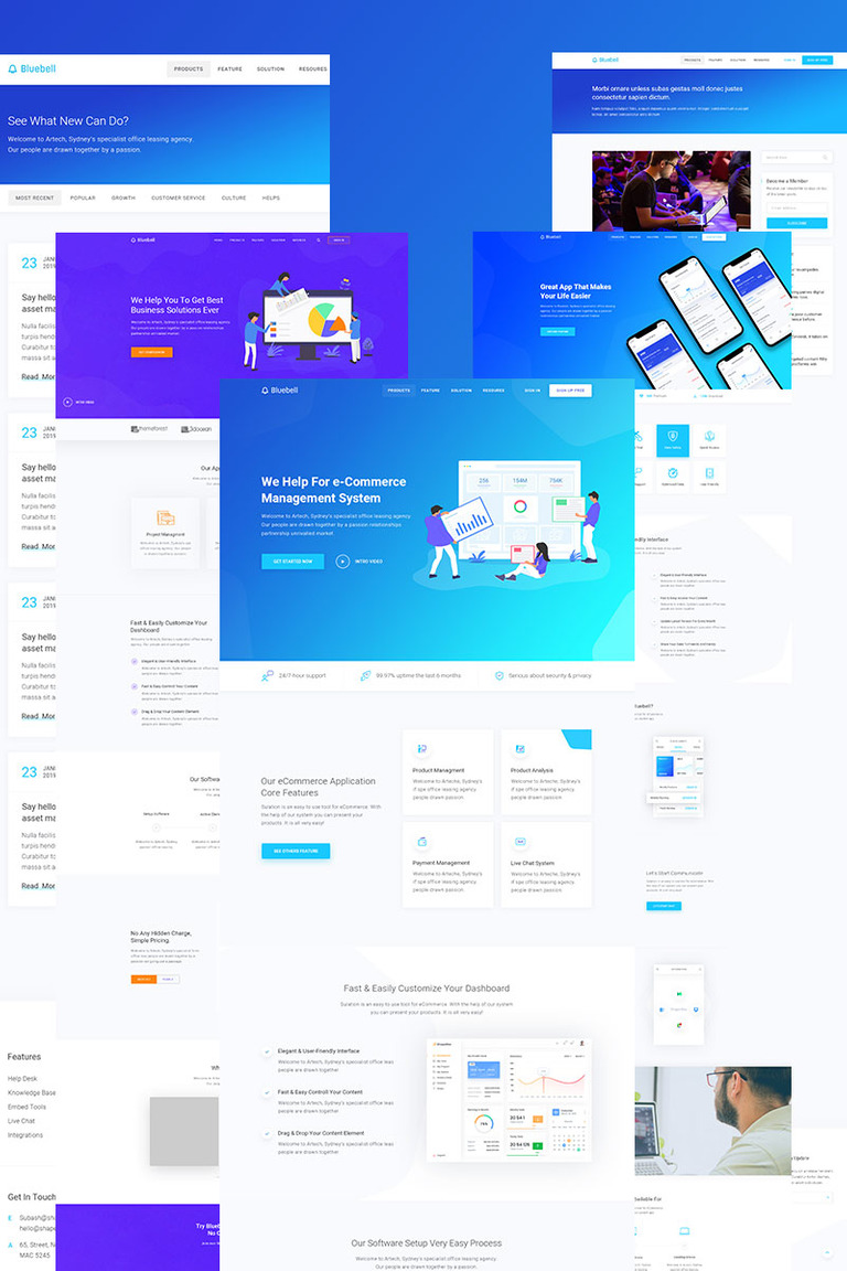 Bluebell - Software, Web App And Startup Tech Company WordPress Theme WordPress Theme