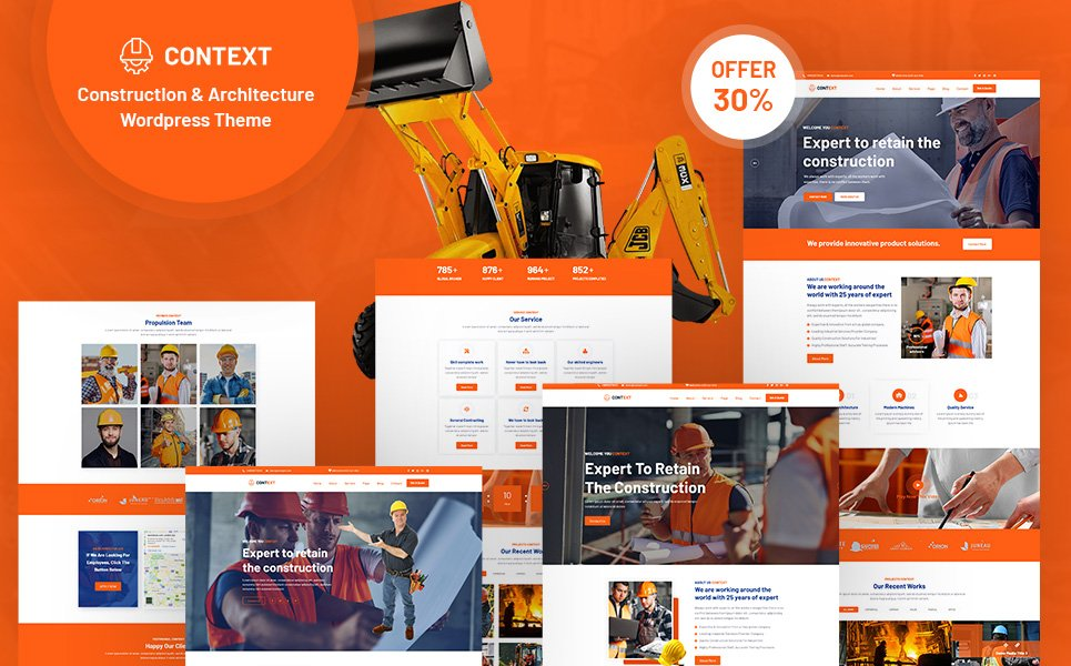 Context - Construction and Architecture WordPress Theme