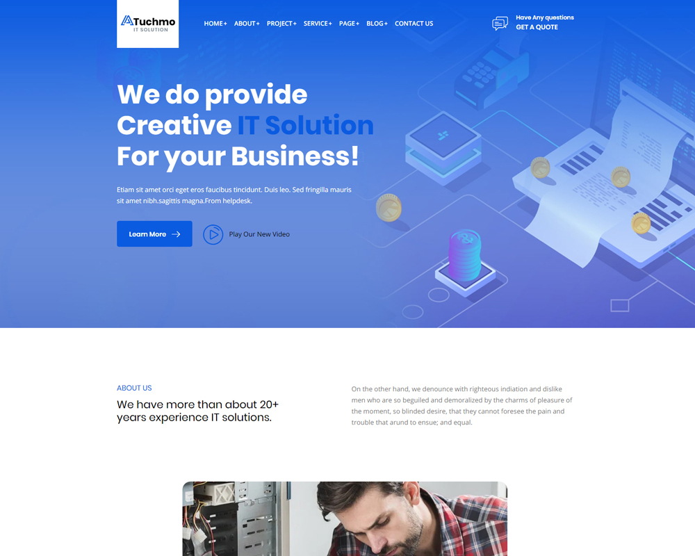 Tuchmo - Technology IT Solutions  Services WooCommerce Theme