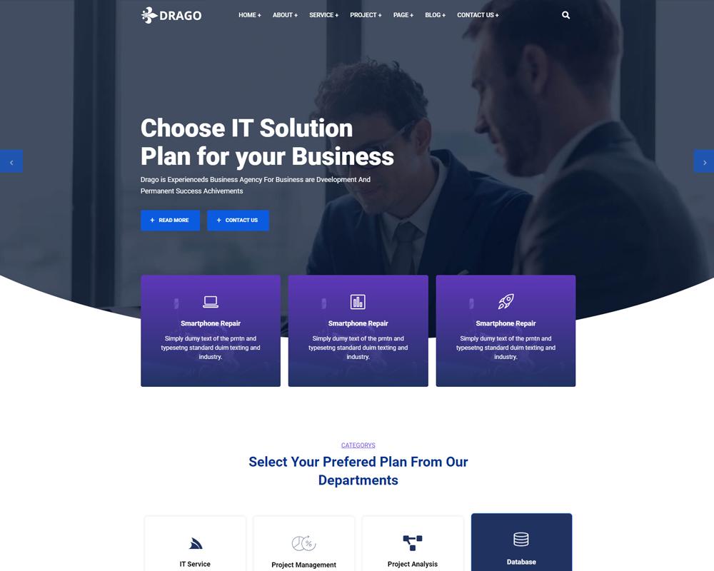 Drago-IT Solution & Business Services WordPress Theme