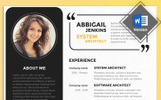 Abbigail Jenkins  - System Architect Resume Template