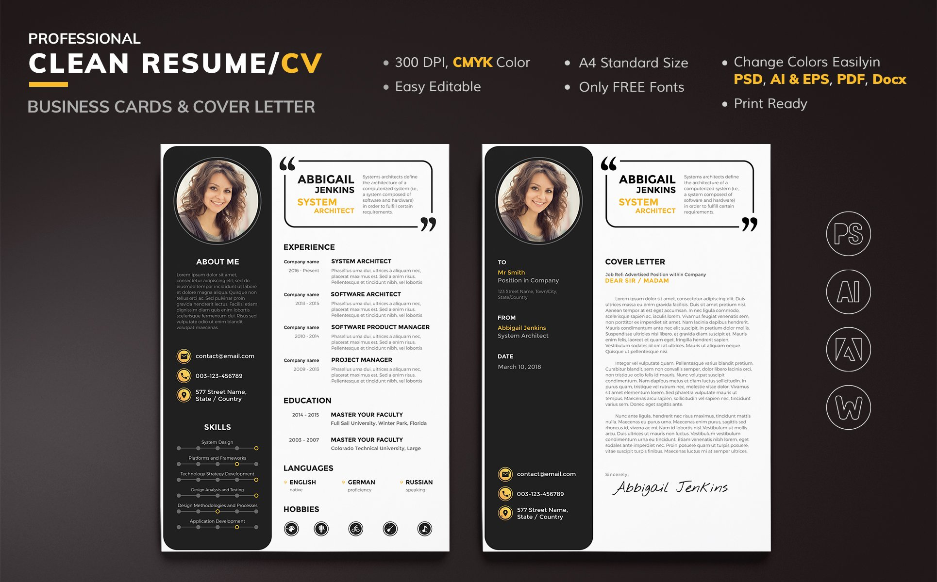 Abbigail Jenkins System Architect Resume Template 67792
