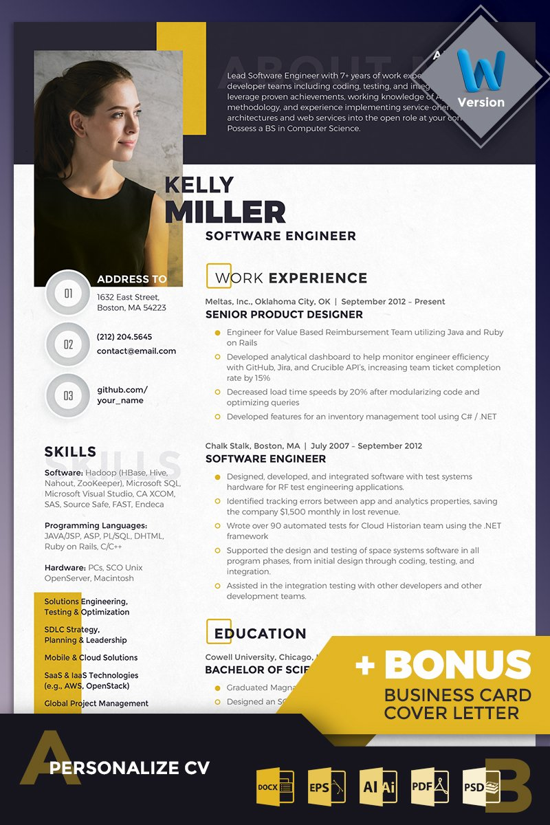 Kelly Miller  Software Engineer Resume Template