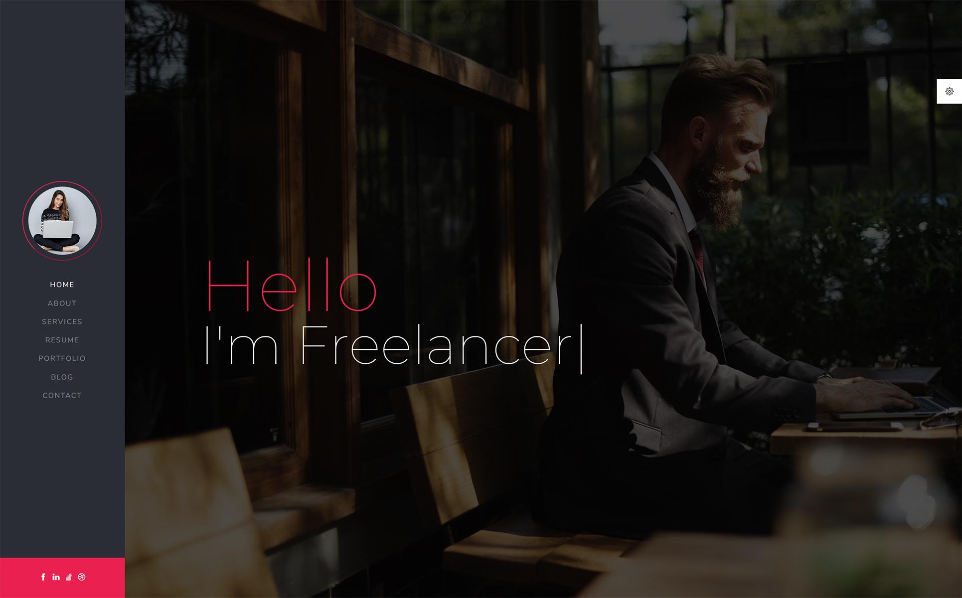 CV/Resume Landing Page Template