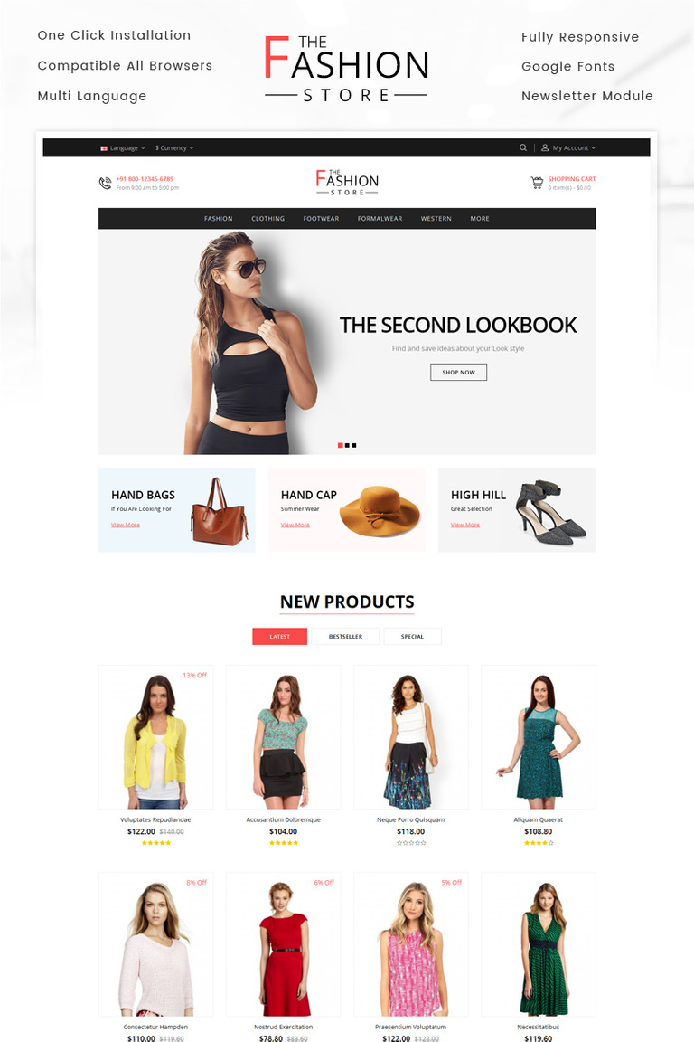 The fashion store opencart template 69573 the fashion store opencart template big screenshot maxwellsz