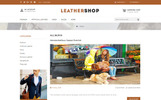 Responsywny szablon OpenCart Leather Shop #69881