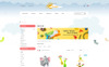 Paradise Toys Store OpenCart Template Big Screenshot