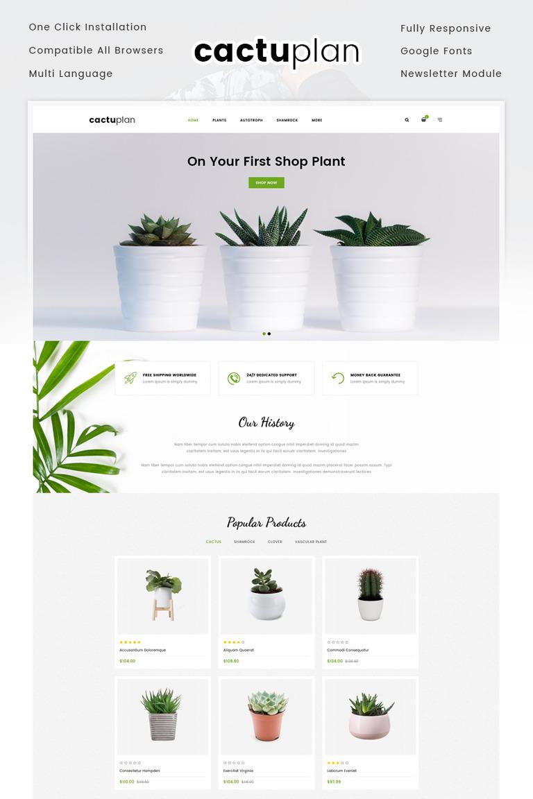 Plantilla OpenCart #72055 para Sitio de Diseño de paisaje