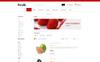 """Responzivní OpenCart šablona """"Fresh Fruits Store"""" Velký screenshot"""
