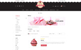"""Bakery Sweet Cupcakes Store"" 响应式OpenCart模板"