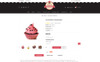 Bakery Sweet Cupcakes Store OpenCart Template Big Screenshot