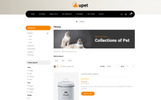 """""""Upet Pets Store"""" Responsive OpenCart Template"""