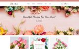 Plantilla OpenCart para Sitio de Flores