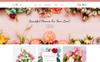 Plantilla OpenCart para Sitio de Flores Captura de Pantalla Grande
