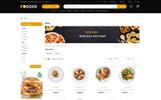 """OpenCart Vorlage namens """"Fodder Restaurant Store"""""""