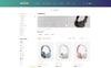 """""""Hoofs - Headphone Store"""" thème OpenCart adaptatif Grande capture d'écran"""