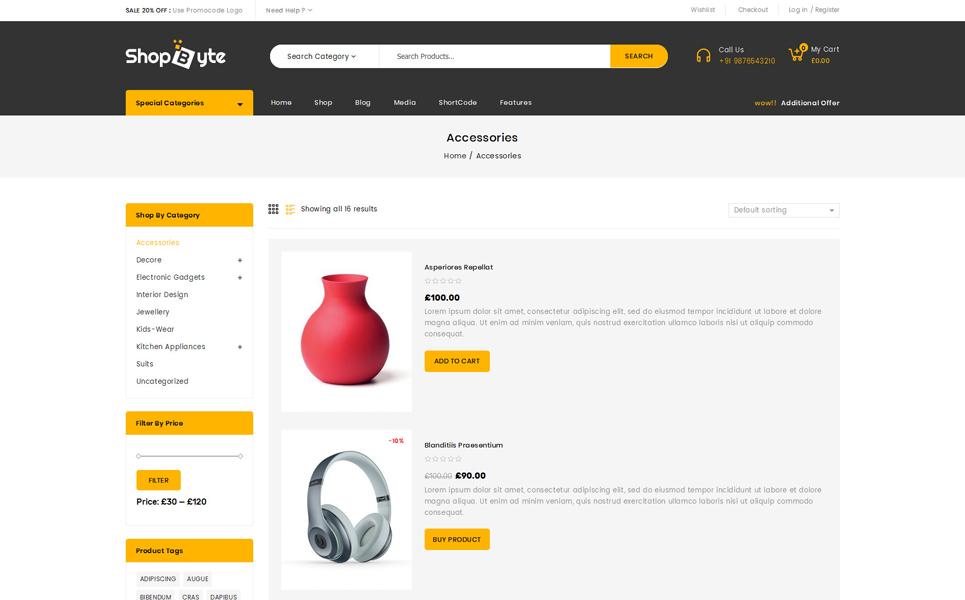 ShopByte - Mega Store WooCommerce Theme
