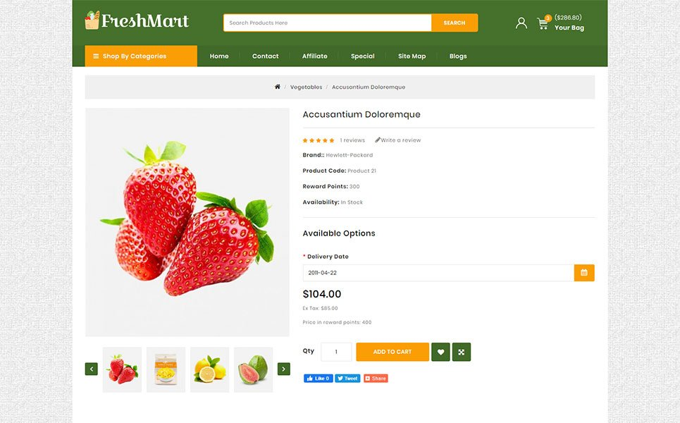 FreshMart - Grocery Store OpenCart Template