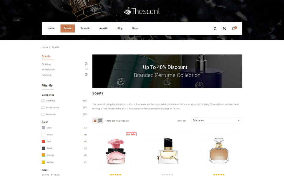TheScent - Perfume Store PrestaShop Theme
