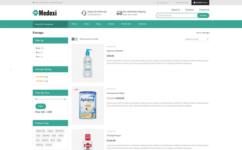 Medexi - Medical Drug Store WooCommerce Theme