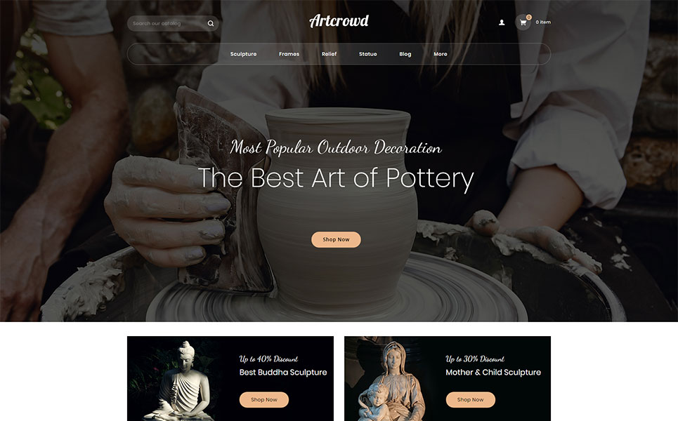 Artcrowd - Art Gallery Store PrestaShop Theme