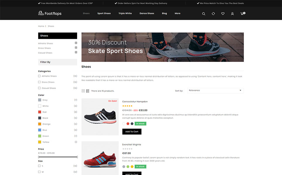 Footflops - Footwear Store PrestaShop Theme